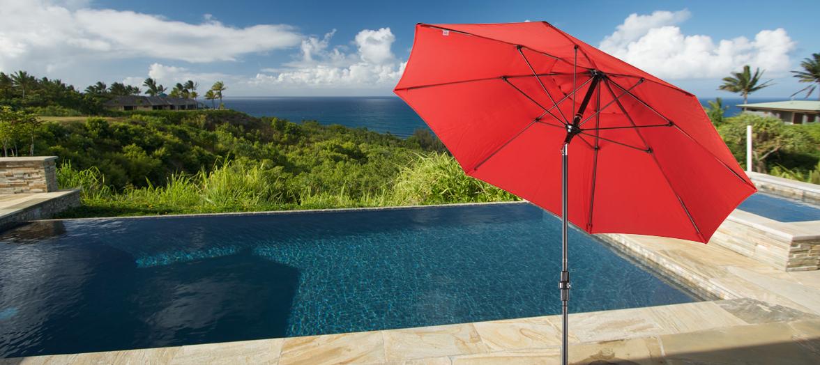Fiberglass - The Standard of Wind Resistant Patio Umbrellas