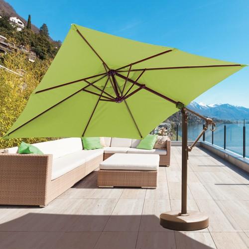 10u0027 Offset Patio Umbrella. Square Cantilever Umbrella