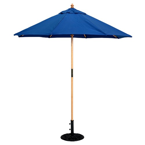 7 Foot Wood Market Umbrella   Light Wood