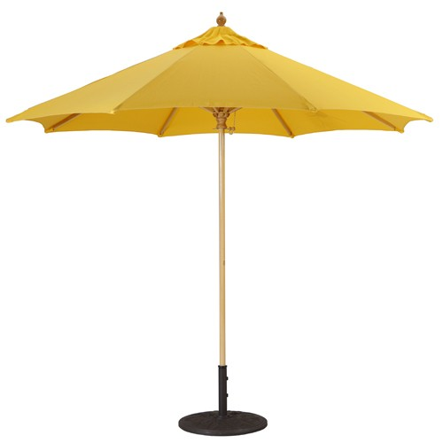 9' Commercial Quality Wood Market Umbrella
