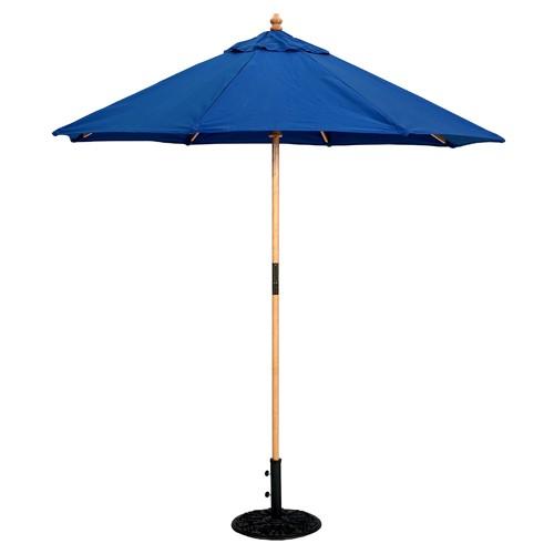 7 Foot Wood Market Umbrella   Light Wood