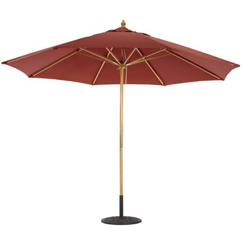 11' Wood Market Umbrella Deluxe