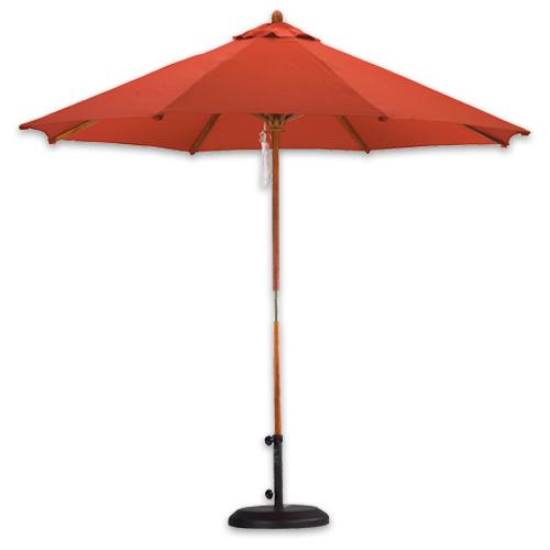 9 foot wood market umbrella