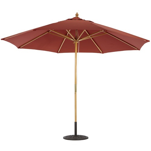 11 foot wood market umbrellas