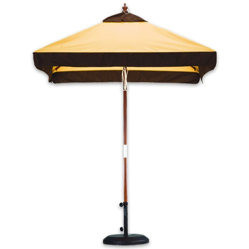 6' Wood Market Umbrellas