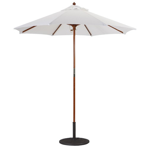 Charmant 7u0027 Wood Umbrellas · 7 Foot Wind Resistant Patio Umbrellas