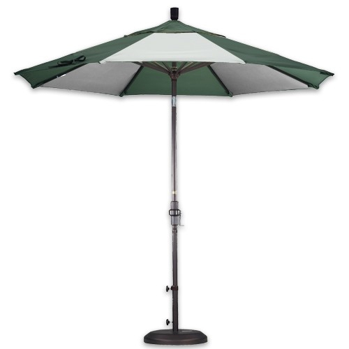 alternating panels patio umbrella